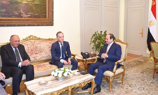 Egypt's President Abdel Fatah al-Sisi on Tuesday 29 Oct. 2019, with German Foreign Minister Heiko Maas - Press Photo during his visit to Cairo