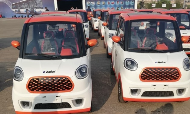 Egypt's Minister of State for Military Production on Tuesday said that the ministry would produce electric mini-cars, in coordination with Egyptian IMUT company - Press photo