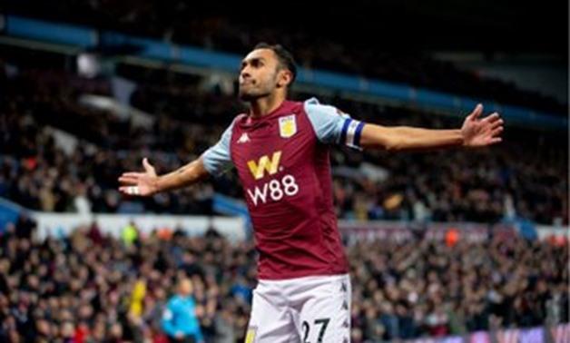 Ahmed Elmohamady celebrates his goal, photo courtesy of Aston Villa Twitter account