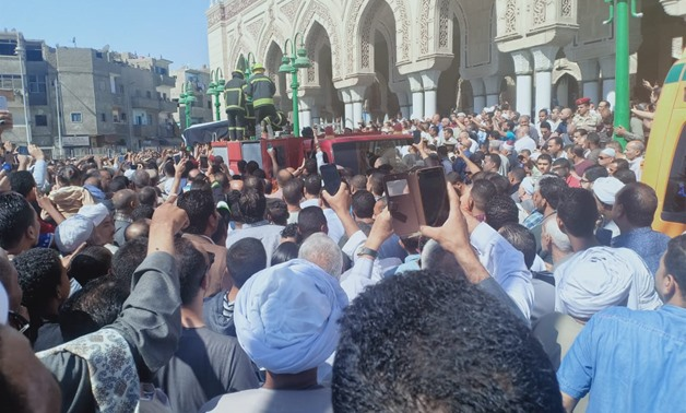Thousands of residents gather in Major Ahmed Fekry's funeral on Saturday, 11 November 2019 in Upper Egypt's Qena - Egypt Today