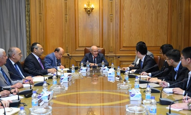 Egyptian State Minister for Military Production Mohamed El-Assar discussed cooperation with Tai Nenglun, director general of the Middle East, North Africa and Europe regions at China Gezhouba Group Corporation - Courtesy of the ministry