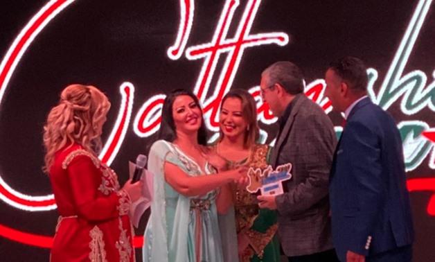 Khashab during her honoring in Barcelona, Spain - ET.
