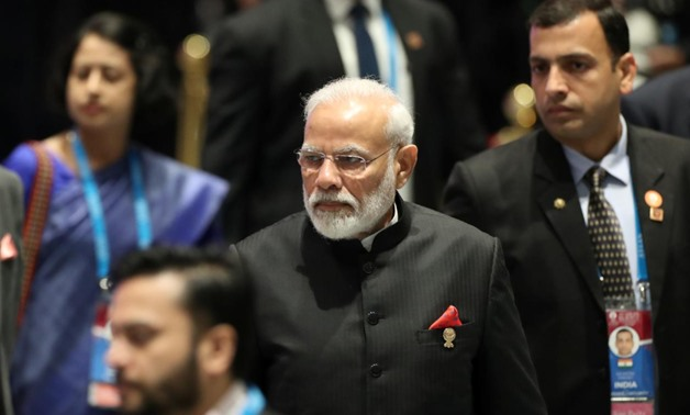 India's Prime Minister Narendra Modi arrives for a special lunch on sustainable development on the sidelines of the ASEAN summit in Bnagkok, Thailand, November 4, 2019. REUTERS/Soe Zeya Tun