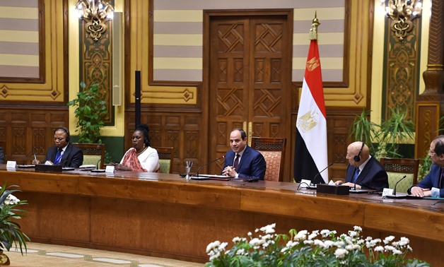 President Abdel Fattah al-Sisi affirmed Egypt's support to human rights from a comprehensive perspective - Courtesy of the Egyptian Presidency