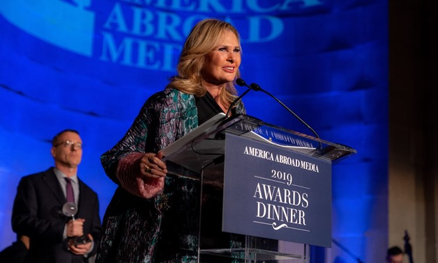 File - America Abroad Media (AAM) honored Egyptian superstar Yousra at its seventh annual Awards Dinner in Washington, D.C.
