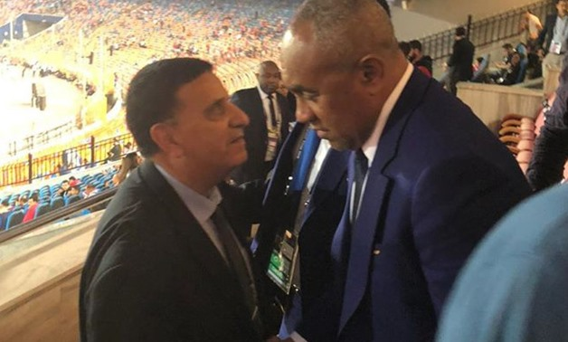 File- Head of CAF Ahmed Ahmed at  U-23 AFCON opening ceremony.