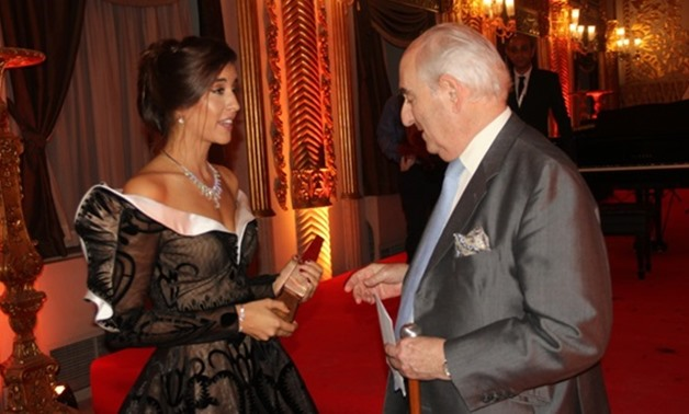 File -Farrah el-Dibany and Prince Abbas Helmy,