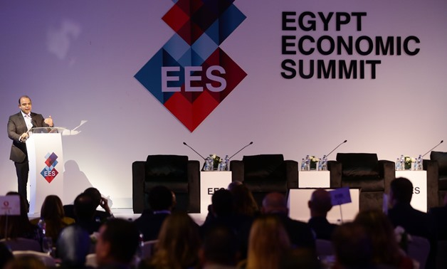 Chairman of the Egyptian Exchange (EGX) Mohamed Farid during the Egypt's Economic Summit that kicked off Tuesday -