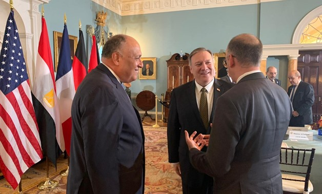 Egyptian Foreign Minister Sameh Shoukry on Thursday took part in a ministerial meeting in Washington for the global coalition to combat the Islamic State (IS) - Press photo