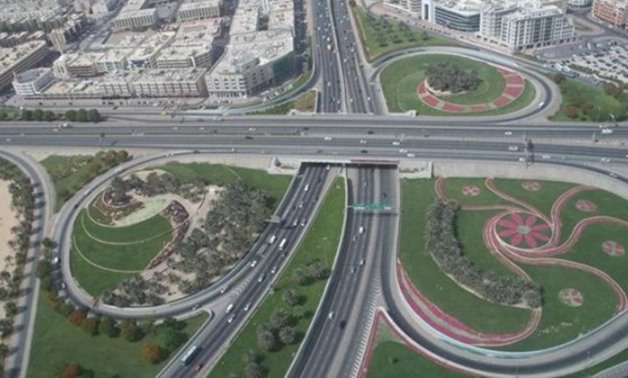FILE - Part of Egypt's national road network project