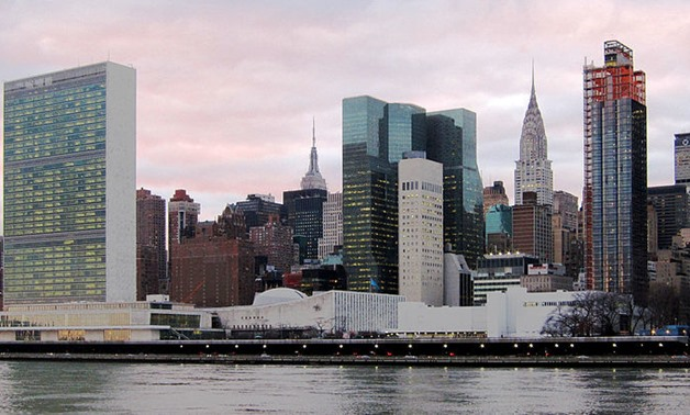 FILE - United Nations Headquarters in New York – Wikimedia Commons/Neptuul