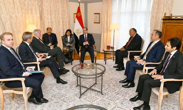 President Abdel Fattah El-Sisi on Wednesday received German Interior Minister Horst Seehofer at his residence in Berlin - Press photo