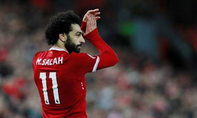 Soccer Football - Premier League - Liverpool vs Southampton - Anfield, Liverpool, Britain - November 18, 2017 Liverpool's Mohamed Salah applauds the fans as he is substituted Action Images via Reuters/Jason Cairnduff