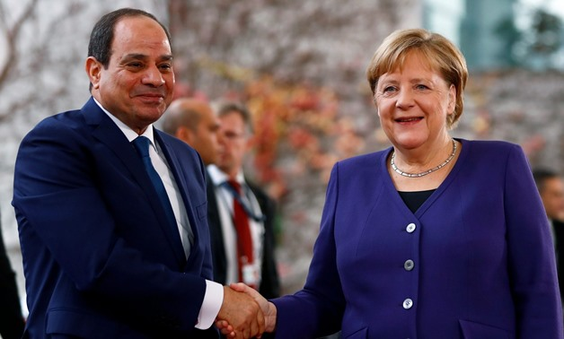 President Sisi meets German Chancellor Angela Merkel in Berlin – Reuters/Fabrizio Bensch