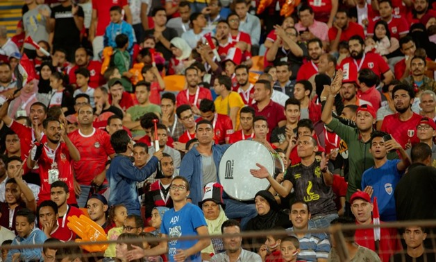 Egyptian fans during the game against South Africa, photo courtesy of CAF official website