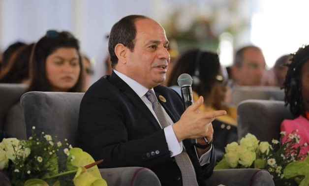 FILE - President Sisi during the 1st Arab and African Youth Forum, March 17, 2019 – Courtesy of the Presidency