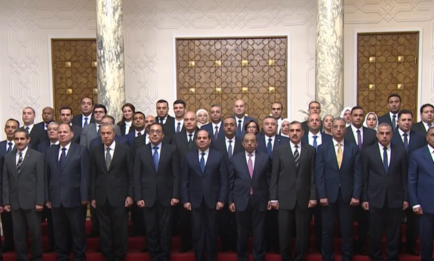 As newly appointed governors and deputy governors were sworn in on Wednesday, the Egyptian state has made a historic step as it has appointed political youth from opposition parties in senior executive positions - Press photo