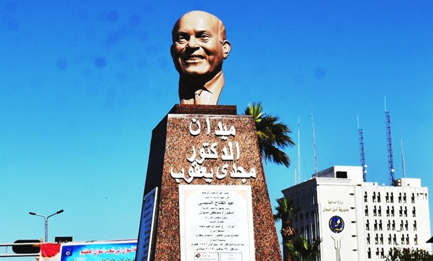 Statue of Sir Magdi Yacoub unveiled in Aswan- Egypt Today/ Duha Saleh