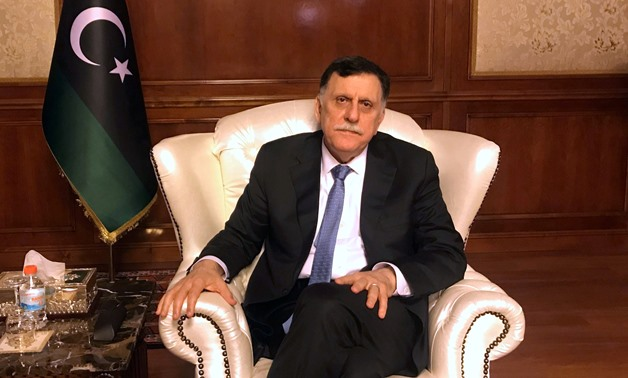 FILE PHOTO: Libya's internationally recognized Prime Minister Fayez al-Serraj is seen during an interview with Reuters at his office in Tripoli, Libya June 16, 2019. REUTERS/Ulf Laessing/File Photo