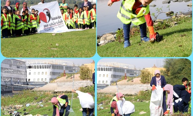 The Cleanshores awareness campaign was carried out at Rawdat el-Salam School in Aswan - Press photo