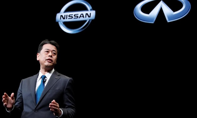 Nissan Motor's chief executive Makoto Uchida gestures during a news conference at Nissan Motor's headquarters in Yokohama, Japan, December 2, 2019. REUTERS/Kim Kyung-Hoon