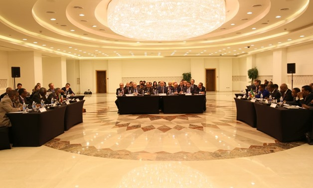The second round of a four-meeting series between the irrigation ministries of Egypt, Sudan and Ethiopia on the Grand Ethiopian Renaissance Dam [GERD] held in Cairo - Press Photo