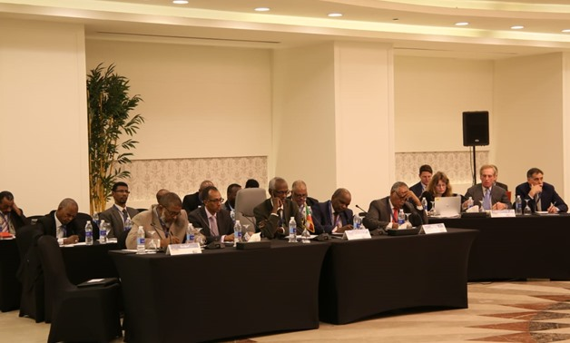FILE - The first round of the second meeting of the water and irrigation ministries of Egypt, Sudan and Ethiopia on the mechanism of operation and filling of the Grand Ethiopian Renaissance Dam (GERD) held on Dec. 2 - Press Photo