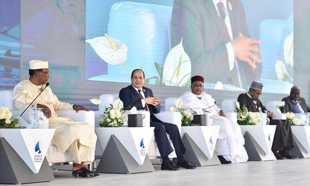 During his speech on Wednesday at the Aswan Forum for Sustainable Peace and Development in Africa held in Egypt, Sisi affirmed the need for the African nations to respond collectively against terrorism - Egypt Today