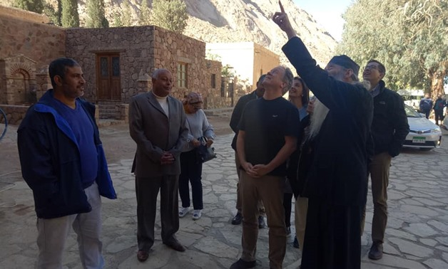The Executive Director of the UN World Food Program, David Paisley visited on Saturday Saint Catherine's Monastery in South Sinai - Egypt Today