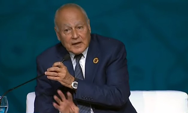 Secretary-General of the Arab League Ahmed Aboul Gheit during his participation at the WYF's International Peace and Security: Current Challenges session on December 15, 2019.