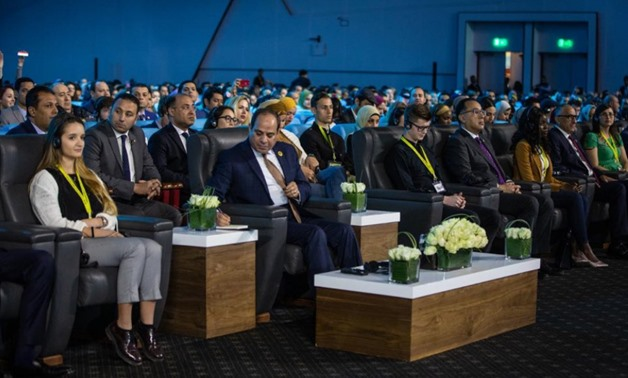 President Abdel Fatah al-Sisi during the World Youth Forum - Press Photo