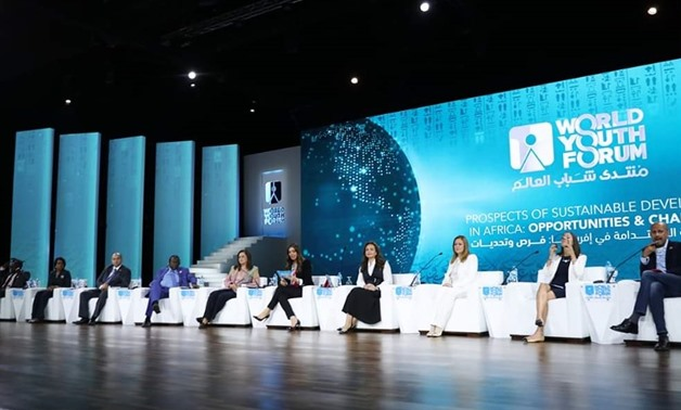 "A session was held dubbed ""Prospects of Sustainable Development in Africa: Opportunities and Challenges"" on the sidelines of the third edition of the World Youth Forum in South Sinai's Sharm El-Sheikh - Courtesy of the WYF"