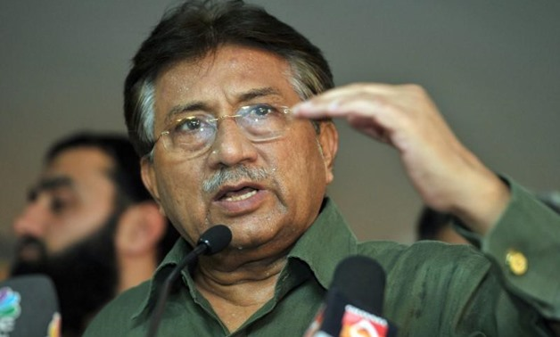 FILE PHOTO: Pakistan's former President Pervez Musharraf speaks during a news conference in Dubai March 23, 2013. REUTERS/Mohammad Abu Omar