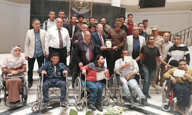 Disabled Helwan University Students granted military exemption in March 2019 - Press photo
