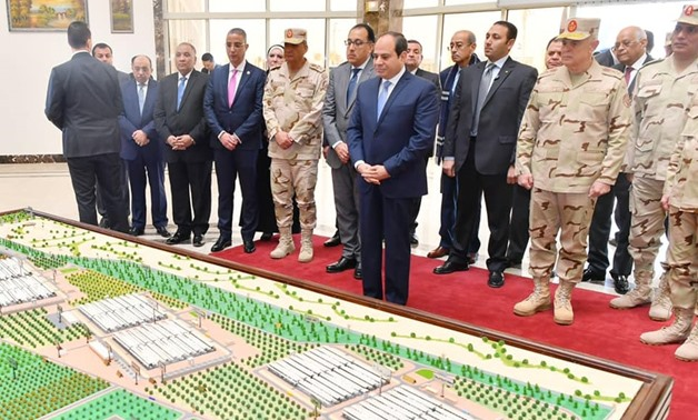 President Abdel Fatah al-Sisi said that the various animal production projects that the government began to implement 3 years ago aim to achieve a balance in the local market to maintain prices and prevent their rise - Courtesy of the Presidency