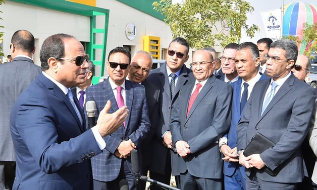 As he inaugurated an animal production complex in Middle Egypt's Fayoum, Sisi hailed the role of the private sector and invited it to take part in the current projects - Courtesy of the Egyptian Presidency