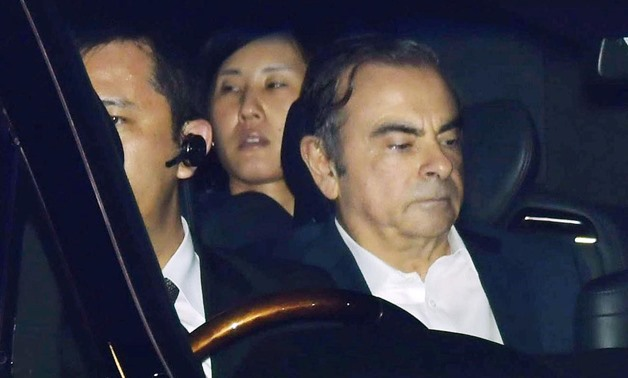 FILE PHOTO: Former Nissan Motor Chairman Carlos Ghosn leaves the Tokyo Detention House in Tokyo, Japan in this photo taken by Kyodo April 25, 2019. Mandatory credit Kyodo/via REUTERS