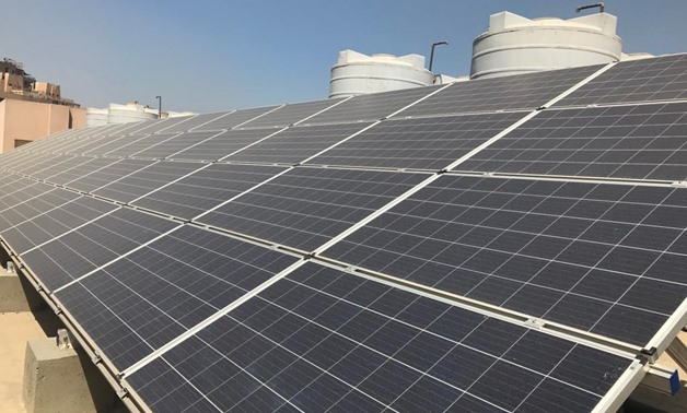 PV panels installed atop of General Authority For Educational Buildings in Egypt - Photo courtesy of UNDP office in Cairo.