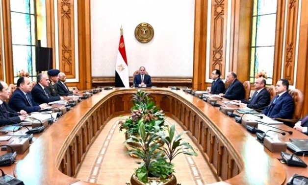 FILE Photo - President Abdel Fatah al Sisi chairs meeting of National Security Council