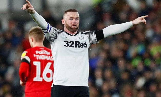 Soccer Football - Championship - Derby County v Barnsley - Pride Park, Derby, Britain - January 2, 2020 Derby County's Wayne Rooney Action Images via Reuters/Jason Cairnduff