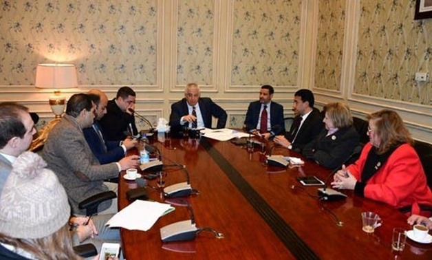 PRESS: The Egyptian Parliament's foreign affairs committee led by MP Karim Darwish.