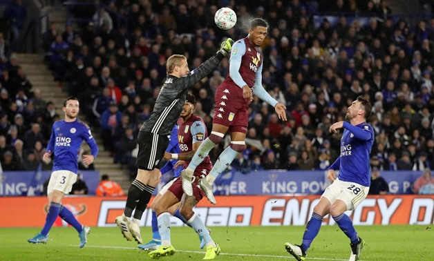 Soccer Football - Carabao Cup - Semi Final First Leg - Leicester City v Aston Villa - King Power Stadium, Leicester, Britain - January 8, 2020 Aston Villa's Ezri Konsa hits the crossbar with a header at goal Action Images via Reuters/Carl Recine