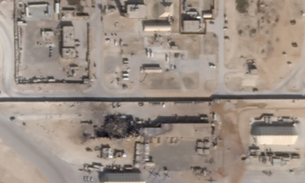 What appears to be new damage at Al Asad air base in Iraq is seen in a satellite picture taken January 8, 2020. Planet/Handout via REUTERS.