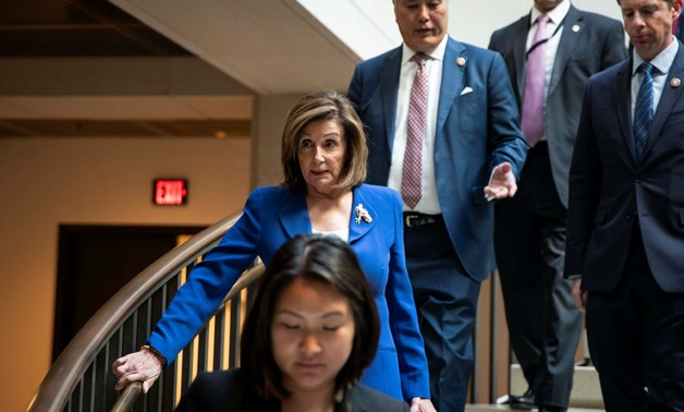 House Speaker Nancy Pelosi (D-CA) arrives for a briefing on developments with Iran after attacks by Iran on U.S. forces in Iraq, at the U.S. Capitol in Washington, U.S., January 8, 2020. REUTERS/Al Drago