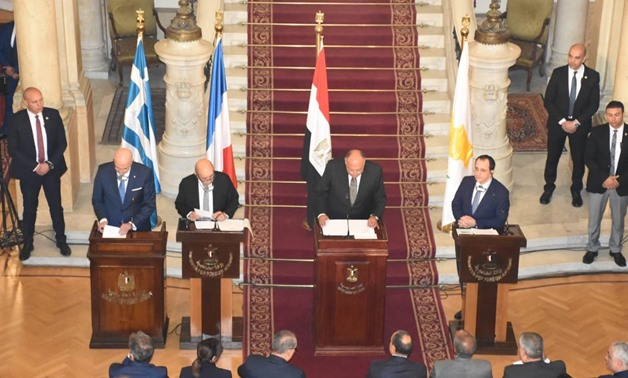 Foreign ministers of Egypt, France, Cyprus and Greece meet in Cairo to discuss regional developments – Press photo