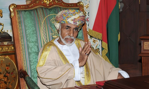(FILES) In this file photo taken on November 01, 2015 Oman's Sultan Qaboos Bin Said is pictured during a cabinet meeting at the royal palace in Muscat. Sultan Qaboos, who ruled Oman for almost half a century, has died at the age of 79, the Omani news agen