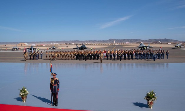 A military parade during the inauguration of Berenice military base in the Red Sea governorate - Press photo