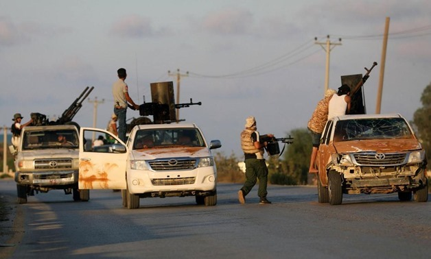 Militias allied to Libya's Government of National Accord fight rival groups in Tripoli in September 2018. Reuters