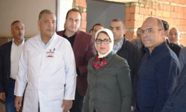 Health Minister Hala Zayed and Luxor Governor Luxor Mohamed Alham inspected renovation work in Luxor Public Hospital - Press Photo