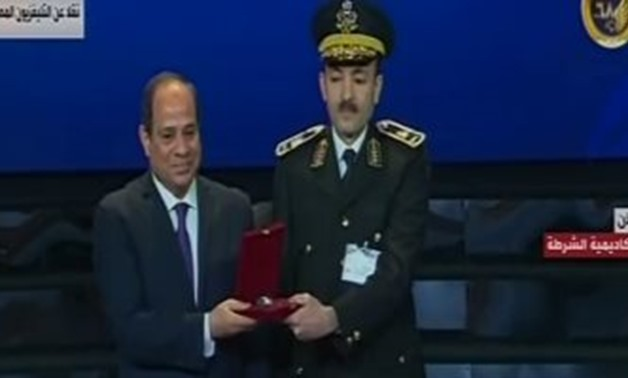 Egypt's President Abdel Fattah El-Sisi on Thursday has praised the sacrifices made by police personnel on January 25th, 1952 - Screenshot/State TV